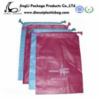 Buy cheap Printed Garment Plastic Drawstring Bags Durable biodegradable Plastic T-Shirt Bag product