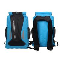 Watertight Blue Dry Bag Backpack With Silkscreen Printing Custom Logo