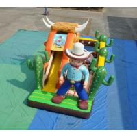 Buy cheap PVC Inflatable West Cowboy Themed Dry Slide For Swimming Pool product