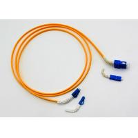 Buy cheap Bendable Boot LC-SC Fiber Optic Patch Cables 10 Meters LSZH Yellow Color Jacket product