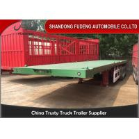 Buy cheap 3 Axles 40 Ft 20 Ft Flatbed Trailer 70 Tons Payload Optional With 12R22.5 Tires product