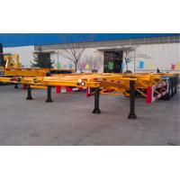 Buy cheap 48ft 40 Tons Gooseneck Flatbed Container Trailer , 3 Axles Flatbed Truck Trailer product