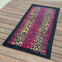 Sexy Leopard Print Quick Dry Beach Towels for Promtion with Black Frame