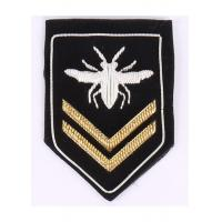 China Silver And Gold Military Embroidered Badges Sequins Uniform Bullion Patch wholesale