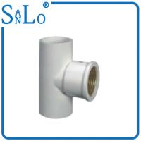 Flexible Plastic 20 - 32 Mm PVC Water Pipe Fittings , White Copper Threaded Coupling