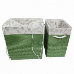 Buy cheap Les paniers de blanchisserie de pp avec plus étroitement et les poignées de coton, les diverses tailles et les couleurs sont disponibles product