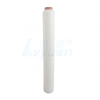 Buy cheap ISO9001 115mm OD 50um Polypropylene Pleated Filter Cartridge from wholesalers