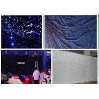 China Festival Celebration LED Curtain Christmas Lights , Foldable LED Star Cloth Wall 2m*2m wholesale