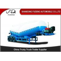 Buy cheap 30-60 Cubic Meter Bulk Cement Tanker Trailer 3x13 Ton Axle Steel Q345B End Plate product