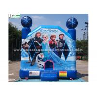 Commercial Grade Kids Frozen Inflatable Bounce Houses With Obstacles For Parties