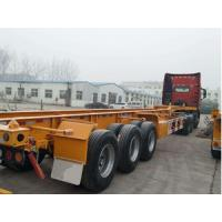 40ft 12m Tractor Trailer Truck 3 Axle Skeleton Semi Trailer For Container Transport
