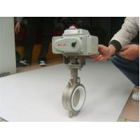 "EPDM lined Electric Actuator Butterfly Valve For Drink Water , 2"" ~ 120"" Size"