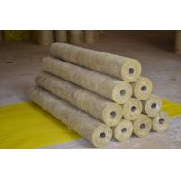 High Density Rockwool Pipe Insulation Material Heat Resistant ISO CE