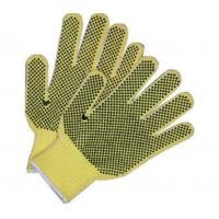 China Double Sides PVC Dotted Hand Protection Gloves Cotton Knit Work Gloves on sale