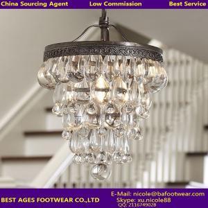 Buy cheap Lámpara de cristal retra de alta calidad del cristal del techo de la lágrima product