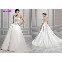 Buy cheap Ivory Organza V Neck Ball Gown Wedding Dress , Formal Ball Gown Prom Dresses product