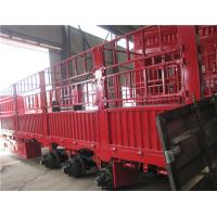 Buy cheap 3 axles livestock transporting fencing cargo semi trailer for bulk product