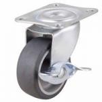 "Buy cheap Mini duty 2"" grey TPR caster side brake ,  small TPR casters,3""  fixed caster,  TPR caster with brake product"