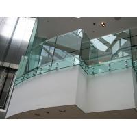 Buy cheap Toughened clear glass fixing balustrade for glass balcony product