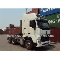 China 6x4 HOWO A7 Heavy duty Tractor / Prime Mover Truck For Pulling Container Tipper Trailer on sale