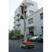 Buy cheap One Man Mast Type Electric Aerial Work Platform Order Picker For Warehouse product