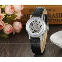 Buy cheap Winner Mens Automatic Watch , Black Leather Strap Ladies Fshion Wristwatch Best from wholesalers