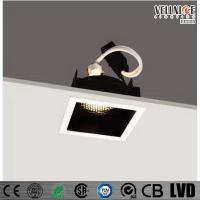 China 30 Degree Tilt MR16 Recessed LED Downlight Square Shape , Led Ceiling Downlights wholesale