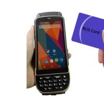 Buy cheap LF125Khz 4G LTE Android Handheld RFID Scanner D/2D Laser Reader Writer 1.3Ghz product
