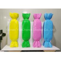 Buy cheap Cute Shop Display Christmas Decorations Sweet Fiberglass Candy Length 96cm product