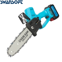 Buy cheap 8 Inch 21V Cordless Electric Chainsaw Brushless Landscape Carpenter Chainsaw Replacement Makita B product