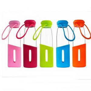 Buy cheap botella de cristal de consumición de cristal de Borosilicate de la taza de la botella de agua de cristal 500ml alta product
