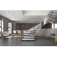 Buy cheap Custom indoor curved glass stairs stainless steel staircase product