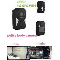 Buy cheap OEM 1440P Wearable Wifi Camera / Waterproof Live Streaming Body Camera With 4g Gps product
