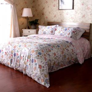 China Double Colorful Floral Bedding Sets , Bedroom Bed Sets ODM OEM on sale
