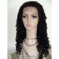 Buy cheap Beautiful Black Color Fashion Water Wave Top Quality Cheap Full Lace Wigs With Baby Hair product