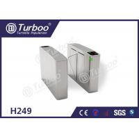Flap Turnstile Security Gate CE Approved Biometric And RFID Reader Control