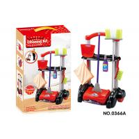 Buy cheap Cleaning Kit Trolley W / Working Vacuum Children's Play Toys Pretend Play Mop Broom from wholesalers