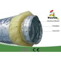 Buy cheap Fireproof 20 Rigid Hvac Duct Insulation Wrap Aluminum Foil Stretchable Easy Installation product