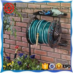China steel garden hose reel cart expandable water hose  nozzle garden hose on sale