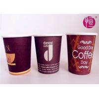 Quality 12oz Glossy Finished Custom Logo Printed Disposable Coffee Single Wall Paper for sale