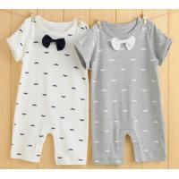 Buy cheap 0 to 6 months Summer baby organic cotton short sleeve rompers double-sided cloth material baby clothes product