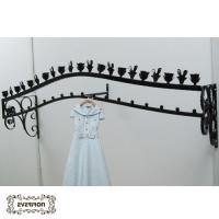 China metal clothes hangers wall rack on sale