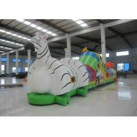 Buy cheap Indoor Playground Blow Up Obstacle Course , Kindergarten Baby Bouncy Castle Assault Course product