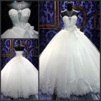 Buy cheap Luxurious White Sweetheart Wedding Gowns Customized for Ladies product
