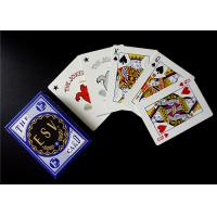 Imported Germany Black Core Paper Casino Playing Cards Poker Size UV Sign for Security