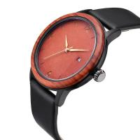 Buy cheap Unique Design Wooden Quartz Watches With Soft Leather Band product