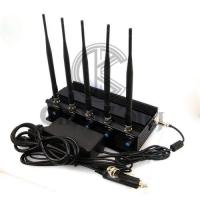 Buy cheap WIFI GPS Office Cell Phone Signal Jammer 2-40m Jam Radius Continous Running product