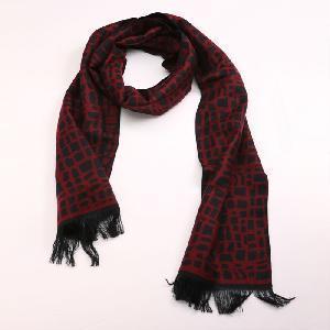 Красный шарф моды хлопка с черной шотландкой (ХП-264)