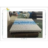 Mattress Pocket Spring Unit With White / Blue Colour Non Woven Fabric Cover