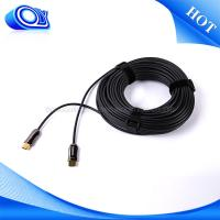 Indoor Mini Mini HDMI Cable 60HZ , Military Fiber Optic Cable Softer / Lighter